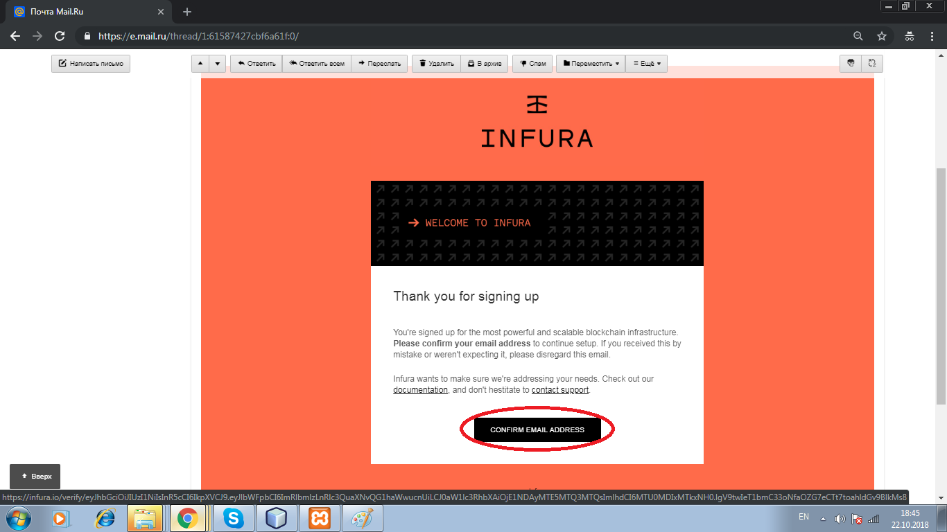 infura API Key