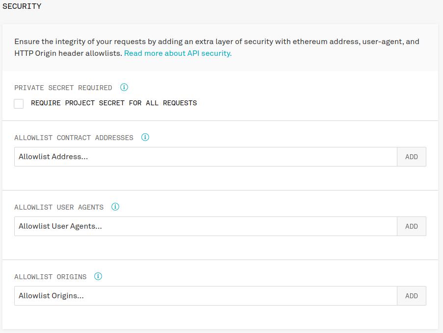 infura api id security settings