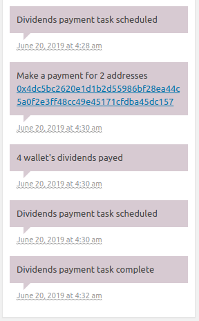 ERC20 Dividend Payments WordPress plugin