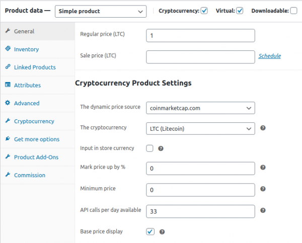 Litecoin WordPress Plugin for WooCommerce